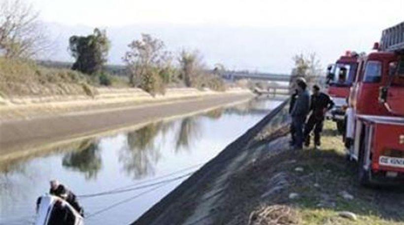 Νεκρός από πτώση ΙΧ σε αρδευτικό κανάλι έξω από τη Λάρισα