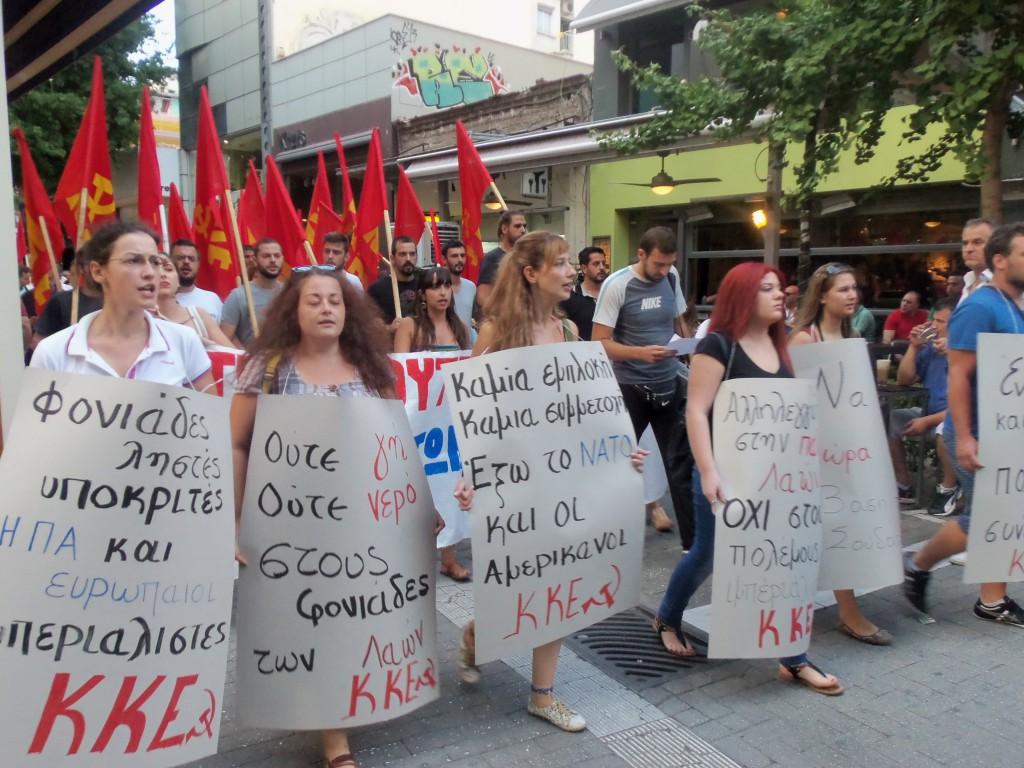 Λάρισα: Πικετοφορία ΚΚΕ κατά της επίθεσης στη Συρία