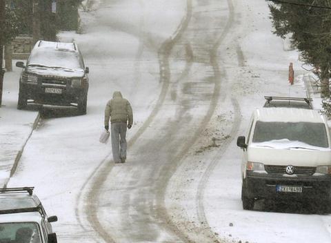 Χιονοθύελλα στη Βασιλίτσα (ΒΙΝΤΕΟ)