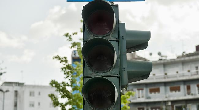 Εκτός λειτουργίας φωτεινοί σηματοδότες στο κέντρο της Λάρισας