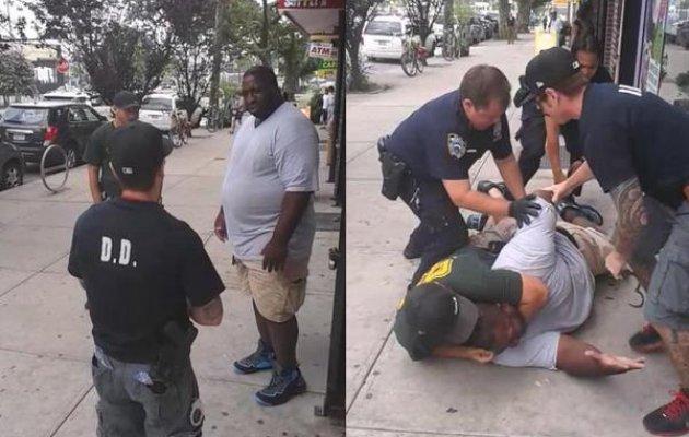 Αστυνομικοί έπνιξαν άνδρα μπροστά στην κάμερα! (video)