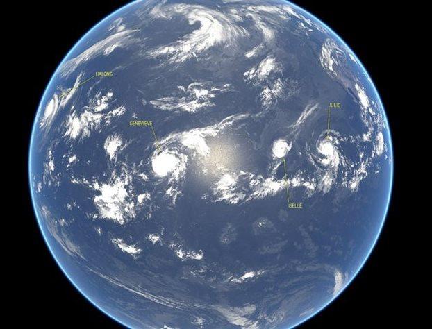 Τέσσερις τυφώνες σαρώνουν τον Ειρηνικό!
