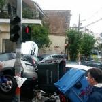Εικόνες χάους στην Αθήνα