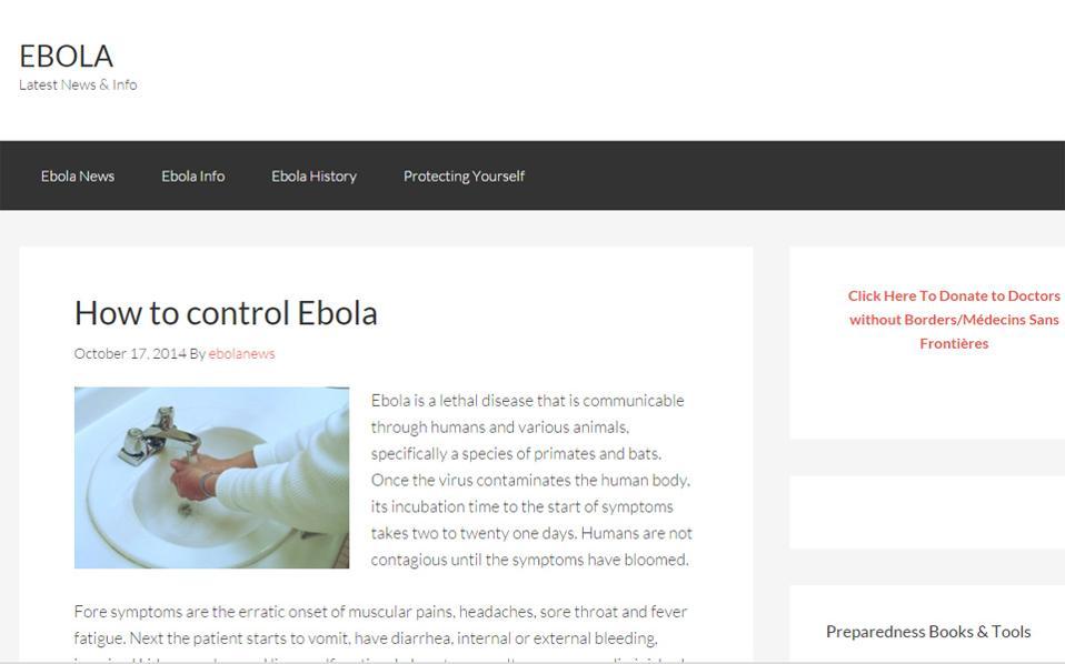 200.000 $ πουλήθηκε η διεύθυνση Ebola.com