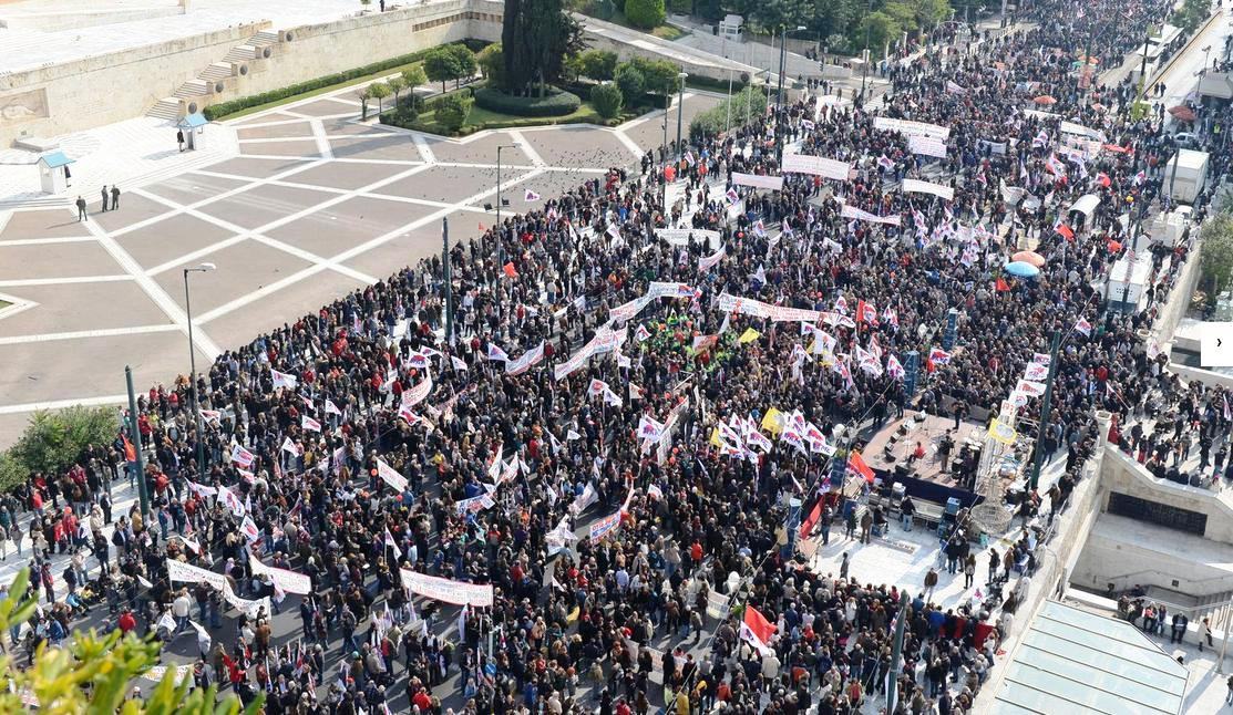 Μεγάλο συλλαλητήριο του ΠΑΜΕ