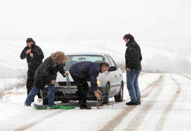 Προβλήματα στους δρόμους της Θεσσαλίας