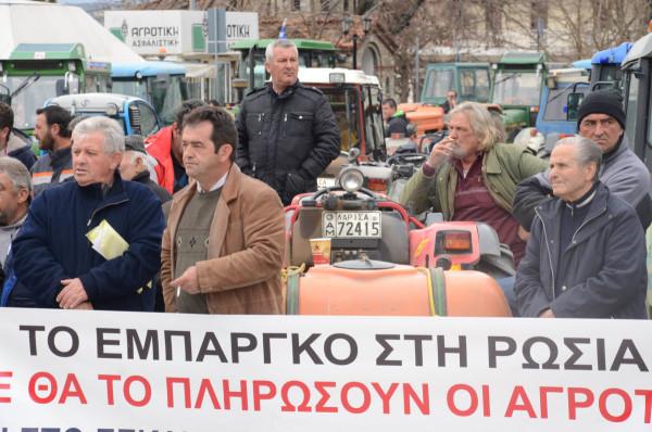 συλλαλητηριο μηλοπαραγωγοι Αγια 4