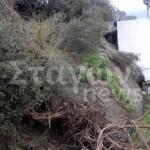 Υποχώρησε βράχος στα Μετέωρα φτάνοντας δίπλα σε σπίτια (ΦΩΤΟ)