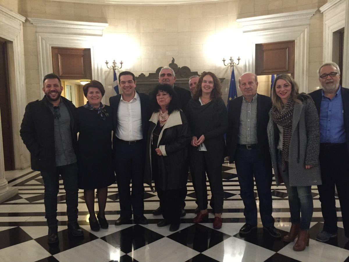 Βουλευτές Μαγνησίας του ΣΥΡΙΖΑ με τον Τσίπρα
