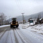 Κρύο και χιόνια σε περιοχές της Θεσσαλίας με χαμηλό υψόμετρο