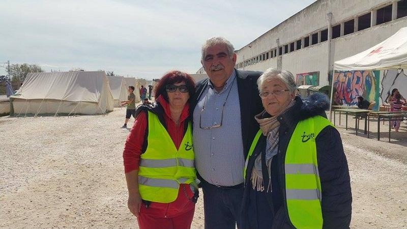 Περιοδεία στους καταυλισμούς προσφύγων