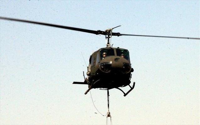 Αναγκαστική προσγείωση ελικοπτέρου της Αεροπορίας Στρατού