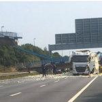 Γέφυρα κατέρρευσε σε αυτοκινητόδρομο