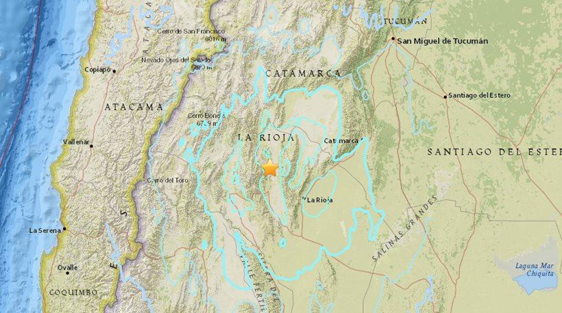 Σεισμός 6,2 Ρίχτερ ταρακούνησε την Αργεντινή