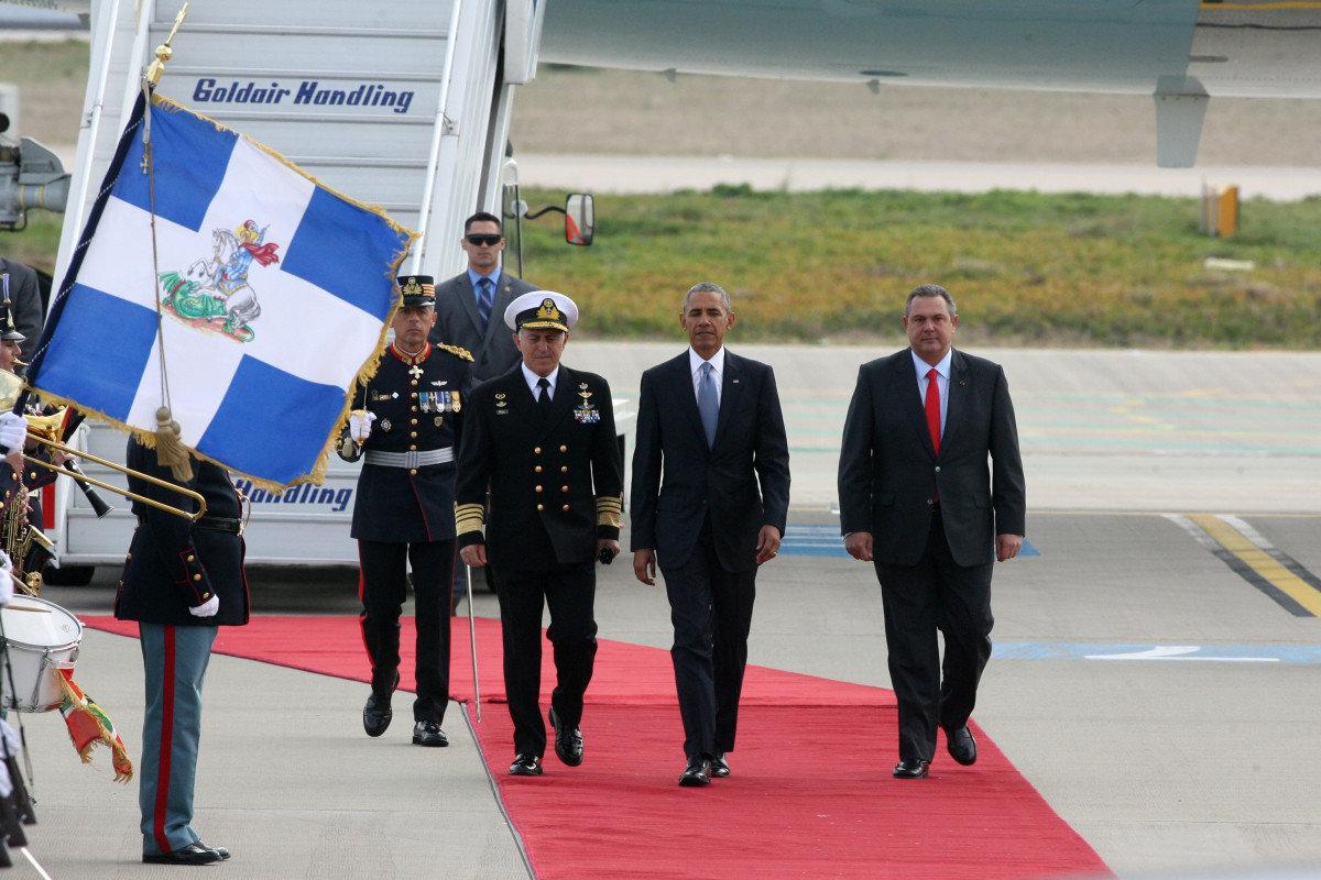 Στην Αθήνα ο Μπαράκ Ομπάμα: «Οι ΗΠΑ στηρίζουν την Ελλάδα»