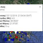 Σεισμός 4,6 Ρίχτερ ταρακούνησε την Αχαΐα