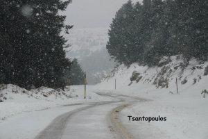 Κλικς από τον χιονισμένο Κίσσαβο (ΦΩΤΟ)
