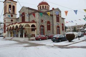 Χιονισμένη η εορτή του Προδρόμου στον Τύρναβο