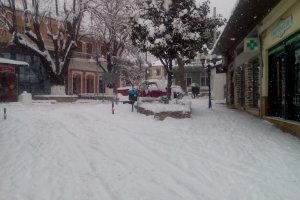 Φωτο από την χιονισμένη Αγιά