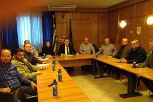 Συνάντηση με Σαρχώση και εκπροσώπους αγροτών