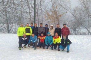Έτρεξαν στη χιονισμένη Λάρισα (φωτό)