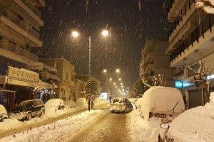 Νέα χιονόπτωση στα Τρίκαλα (ΦΩΤΟ + ΒΙΝΤΕΟ)
