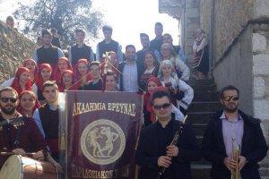 Κατσιαντώνης με την «Ακαδημία Έρευνας Παραδοσιακών Χορών Ελασσόνας»