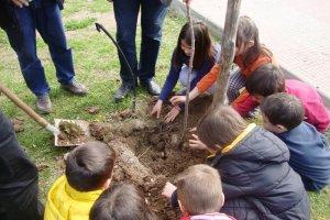 Δενδροφύτευση στο 21ο Δημοτικό Σχολείο Λάρισας (ΦΩΤΟ)