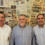 Στα γραφεία της larissanet οι πρόεδροι των δημοσιογράφων…