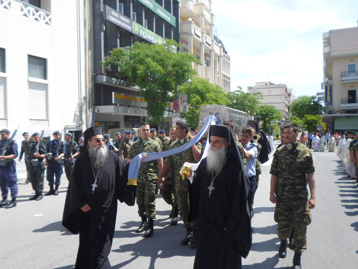 Με την παρουσία της πολιτικής και πολιτιακής ηγεσίας της Λάρισας και πλήθος κόσμου ο εορτασμός του Αγίου Αχιλλίου