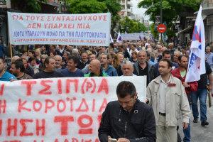 Κλικς από τις απεργιακές συγκεντρώσεις στη Λάρισα (ΦΩΤΟ)