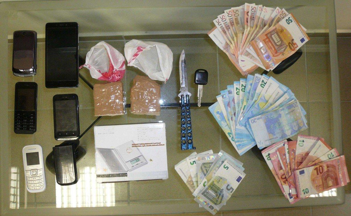Δύο συλλήψεις στο Βόλο για διακίνηση ηρωίνης