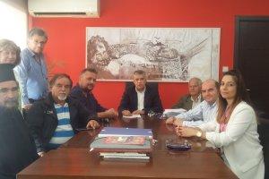 Συνάντηση με τον Περιφερειάρχη Θεσσαλίας για το νερό της Δολίχης