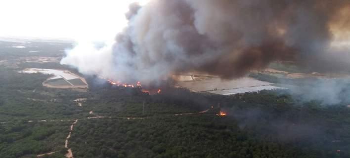 Φωτιά ξέσπασε στο Κόκκινο Νερό