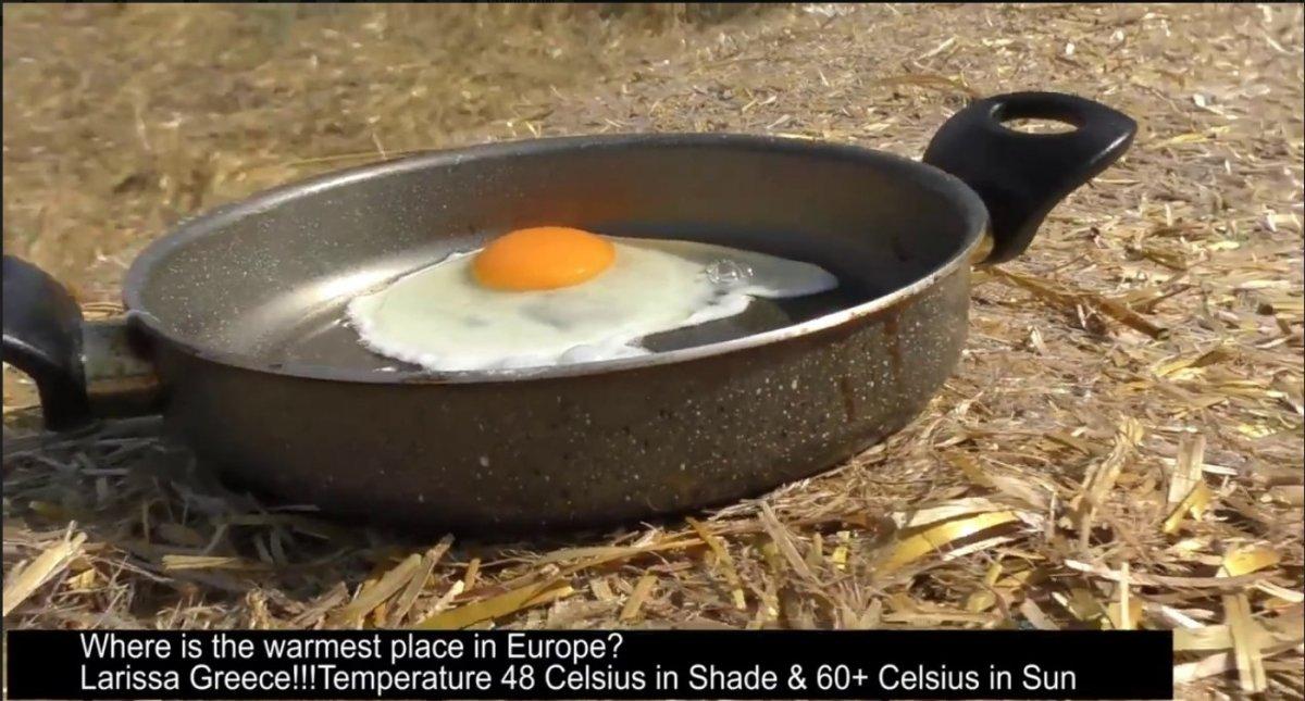 Με υψηλή θερμοκρασία τηγανίζουν αβγά στη Λάρισα