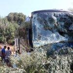 Η μοιραία σύγκρουση και η πτώση του λεωφορείου