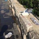 Σκουπίδια μπροστά στο Αρχαίο Θέατρο Λάρισας