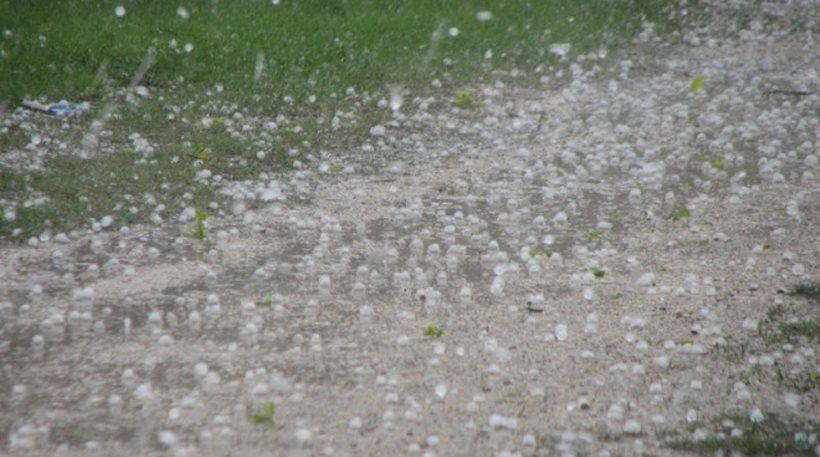 Καταστροφές από χαλάζι και βροχή σε χωριά του Δ. Κιλελέρ