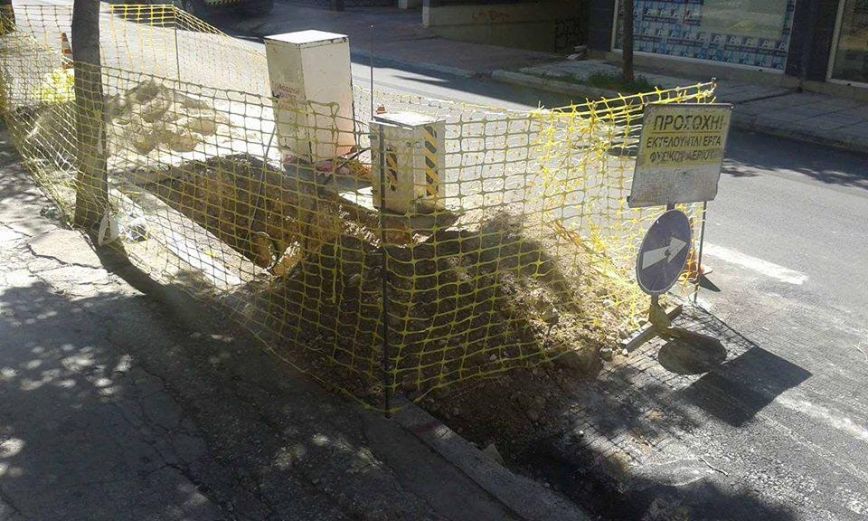 Ξανά ράβε-ξήλωνε σε κεντρικό δρόμο της Λάρισας
