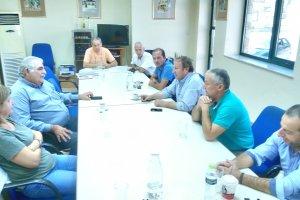 Επίσκεψη Ν.Παπαδόπουλου στον Αγροτικό Οινοποιητικό Συνεταιρισμό Τυρνάβου