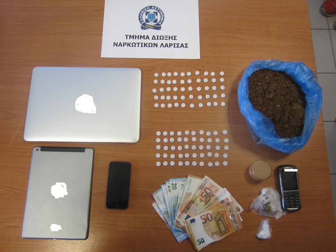 Συνελήφθη 25χρονος στη Λάρισα με 100 χάπια «Ecstasy»
