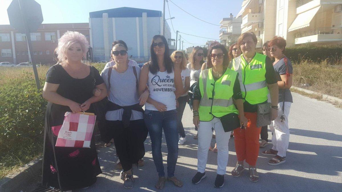 Διαμαρτυρία γονέων μετά την παράσυρση σχολ. τροχονόμου