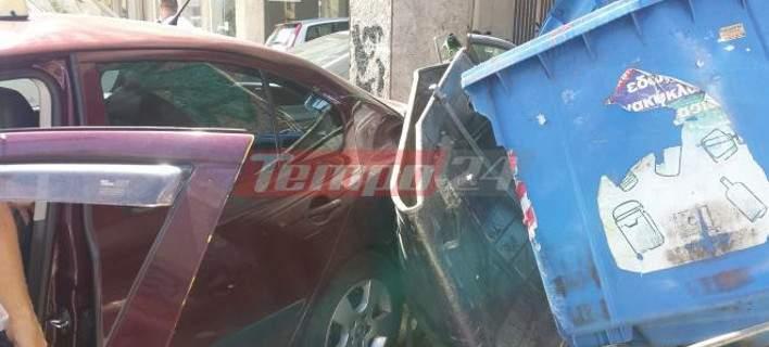 Ταξί πετάχτηκε στον αέρα μετά από σφοδρή σύγκρουση με βανάκι