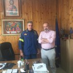 Συνάντηση Μπαργιώτα με Διοικητή της Πυροσβεστικής