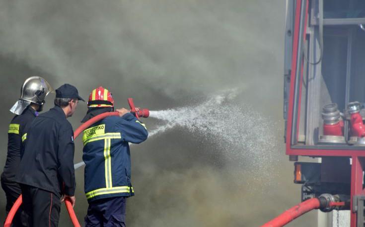Στις φλόγες τυλιχτηκε αποθήκη με άχυρο στη Σκοπιά Φαρσάλων