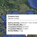 Σεισμός 4,3 Ρίχτερ στην Κω