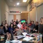 Στα γραφεία της larissanet νέοι από το πρόγραμμα Erasmus+