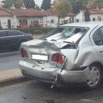 Λάρισα: Σύγκρουση οχημάτων στην οδό Σαρίμβεη (ΦΩΤΟ)
