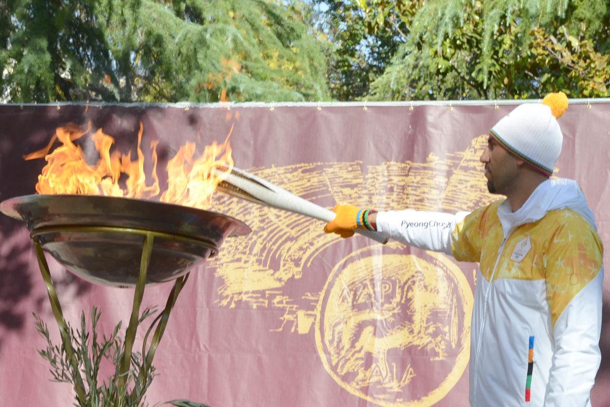 Η Λάρισα υποδέχθηκε σήμερα την Ολυμπιακή Φλόγα