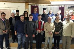 Αγιασμός στη σχολή βυζαντινής Μουσικής «Ο Άγιος Αχίλλιος» στον Τύρναβο